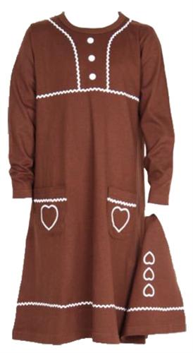 Pepparkaksklänning med luva, 99kr från lekmer.se.