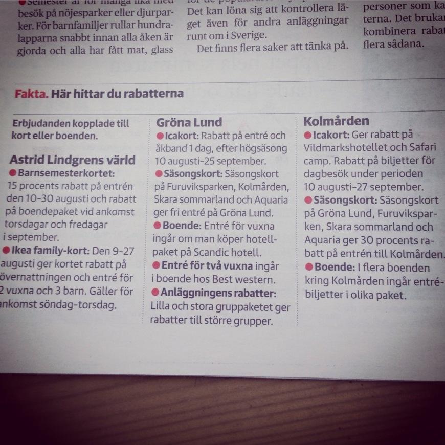 Rabatter Hos Kolmården Liseberg Astrid Lindgrens Värld Gröna Lund